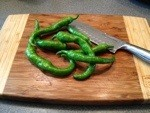 Peppers on the chopping block