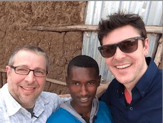 Bob, Melakut and Tripp. Probably Melakut's first 'selfie'.
