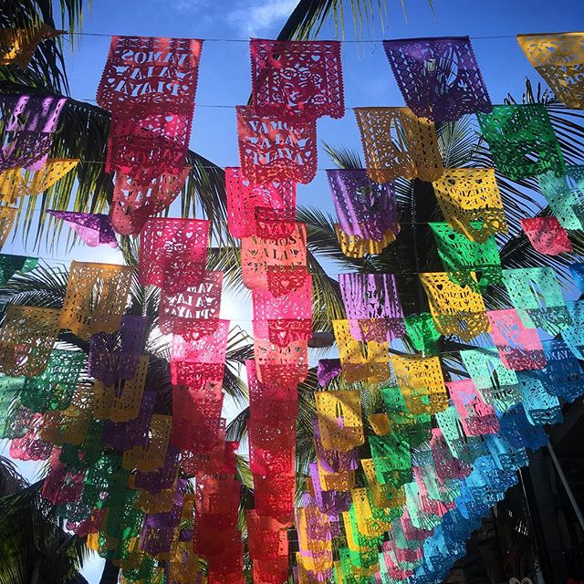 Magnifiques couleurs de Sayulita!!! #sayulita #mexico #felicenavidad #couleurs #palmier
