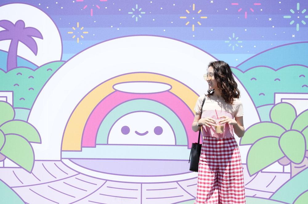 集市里的超级粉嫩背景墙❤️