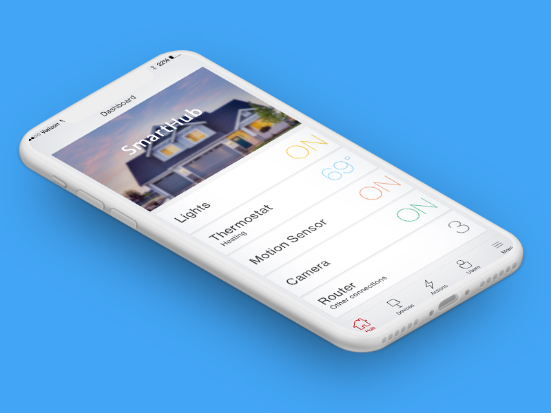Smart Home App - Verizon | UX Design | iOS and Android