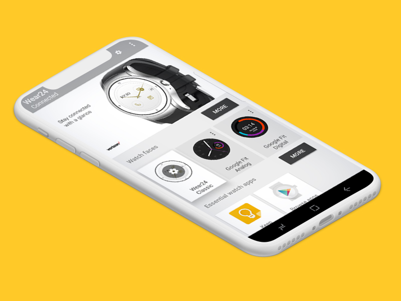 Smart Watch App - Verizon | UX Design | iOS and Android