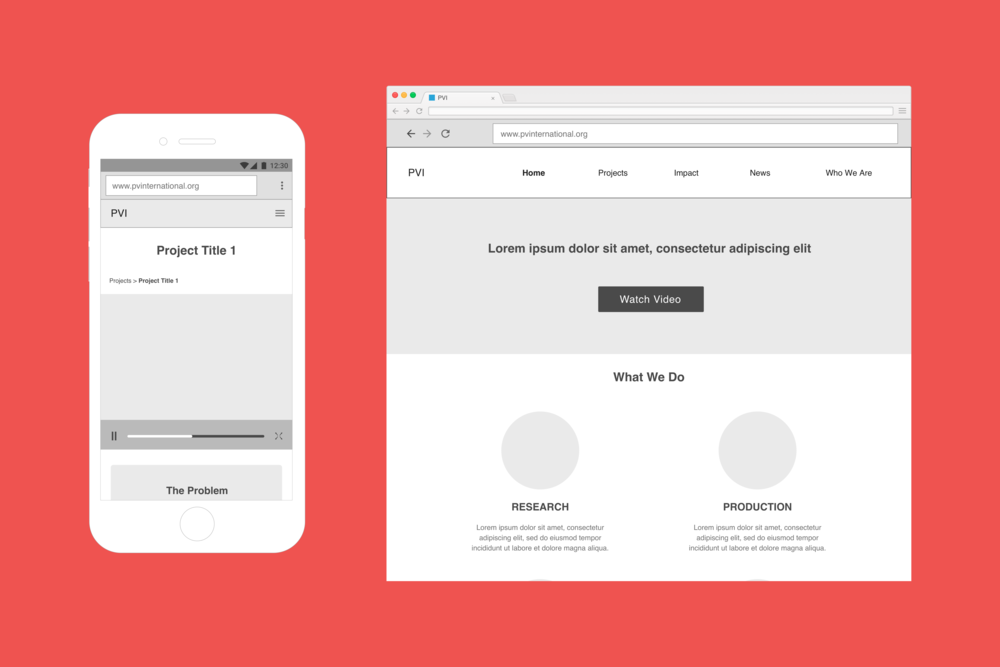 PVI (Non-profit) - Mobile Responsive | Sitemaps and Wireframes