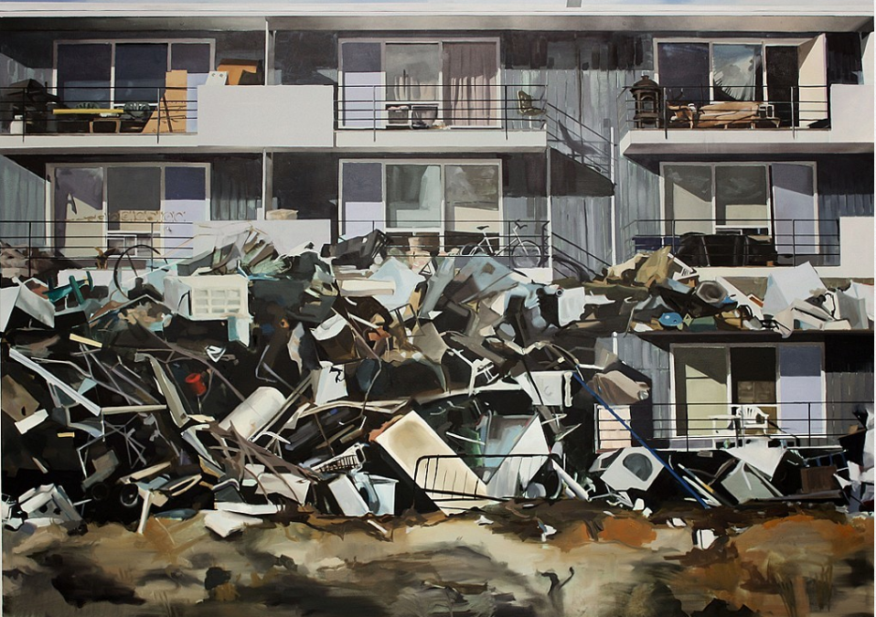 "Andrea Kastner, The Inventory of Dreams, 2014, Oil on Canvas, 60"" x 84"""