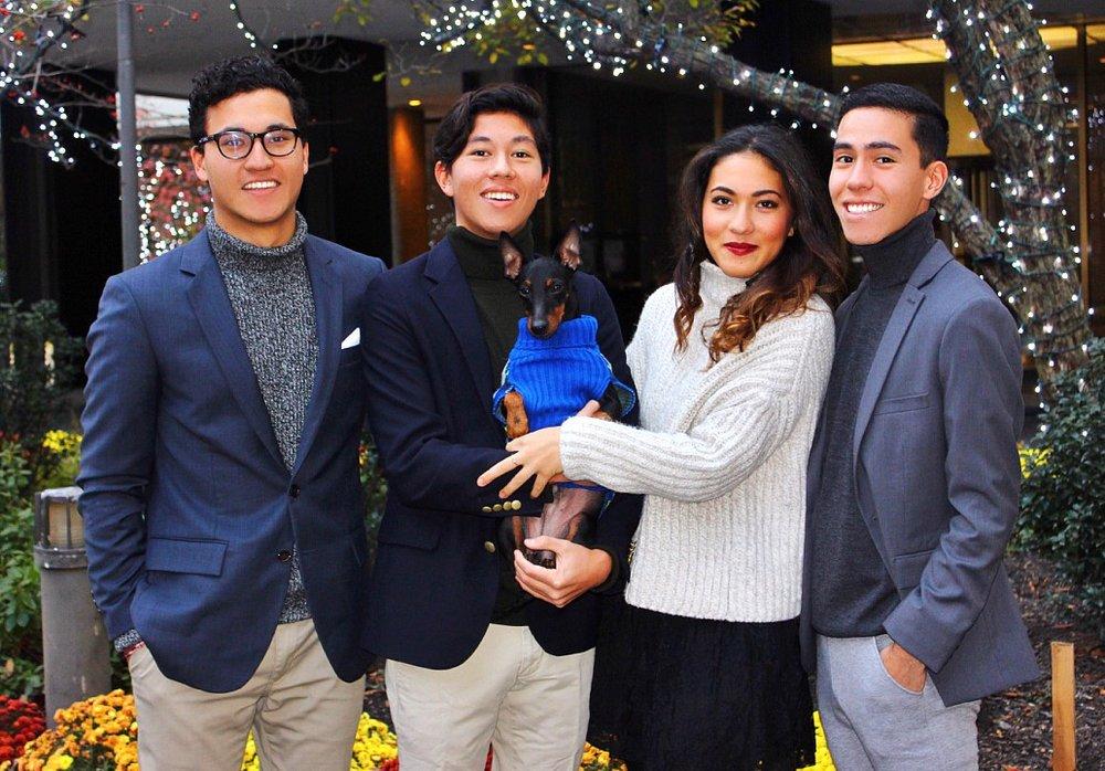 The Kigawa family's 2015 Christmas card.