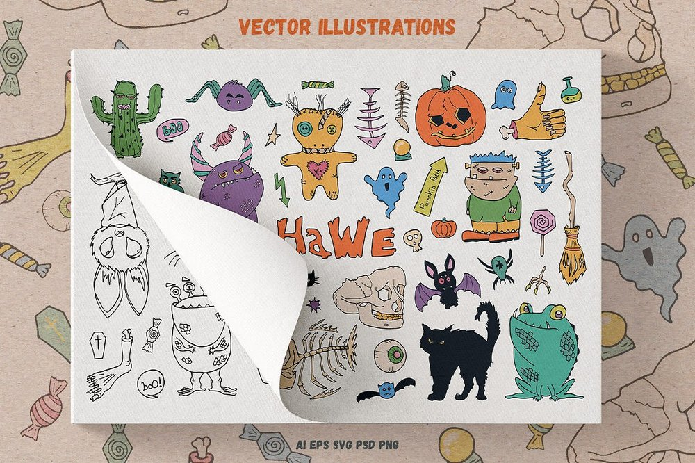 Free Halloween Vector Toolkit