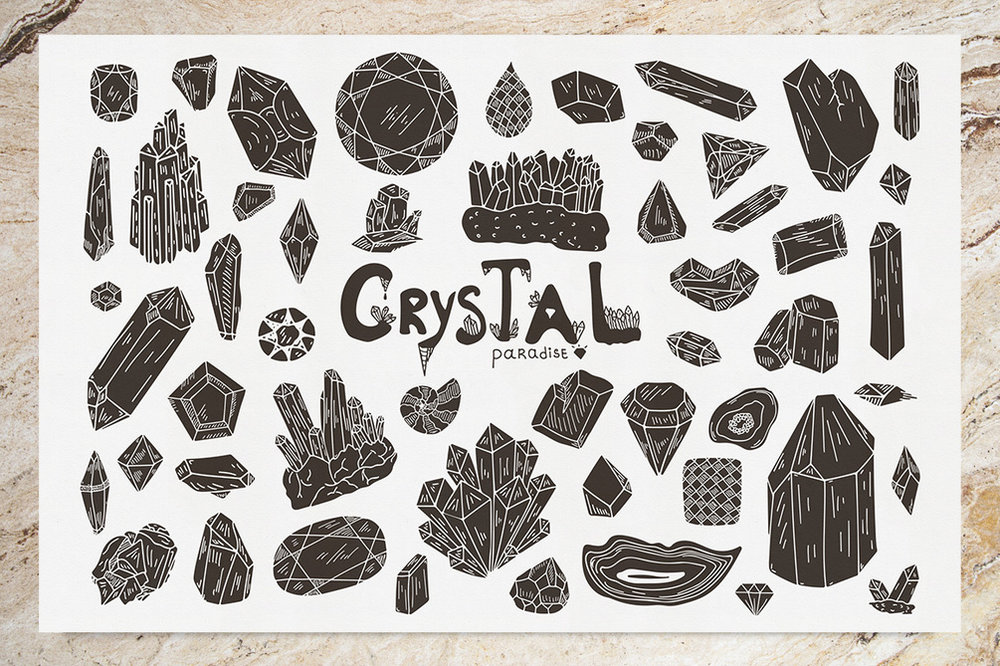 Crystal Paradise Free Vector Set