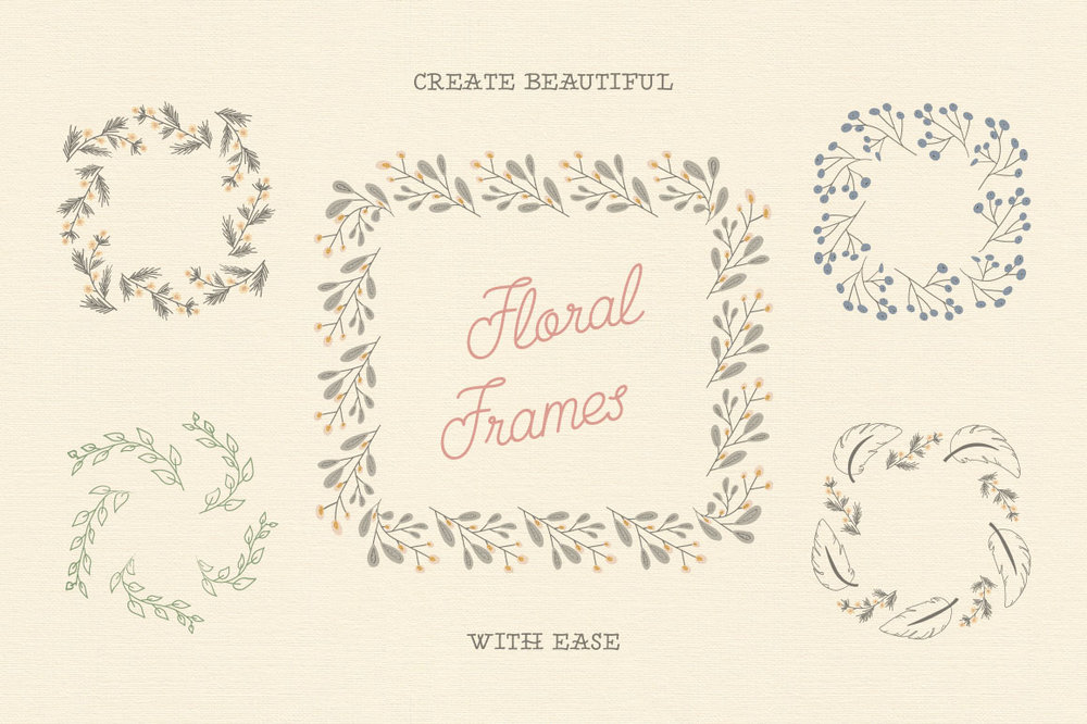 Free Download: Floral Pattern Brushes For Illustrator