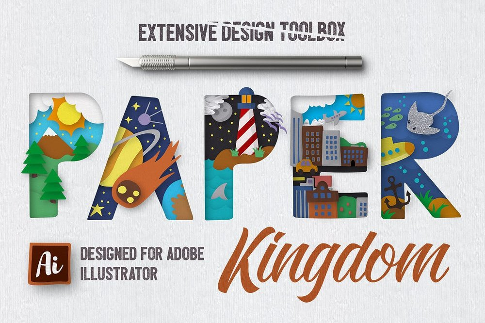 Paper Kingdom For Illustrator