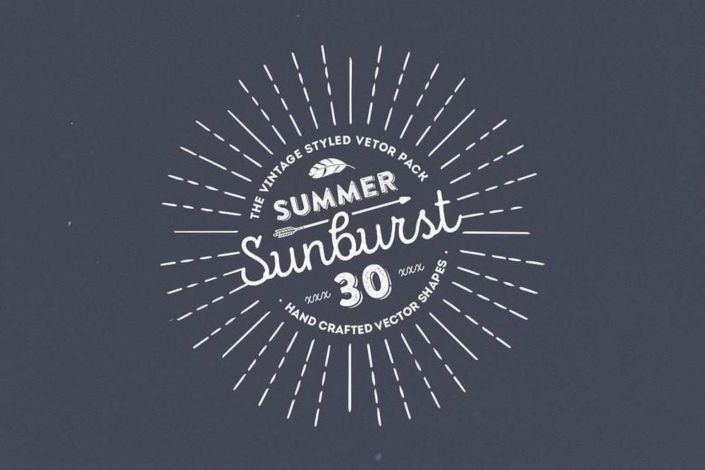Summer Sunburst Vector Set