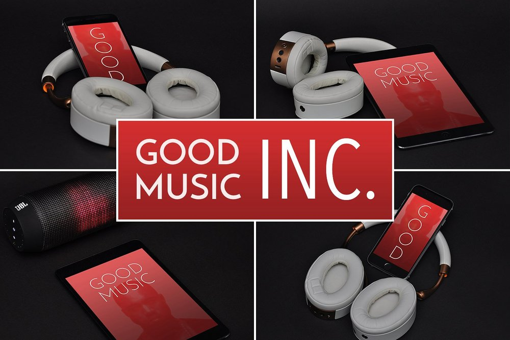 GOOD MUSIC INC. Mockup Set