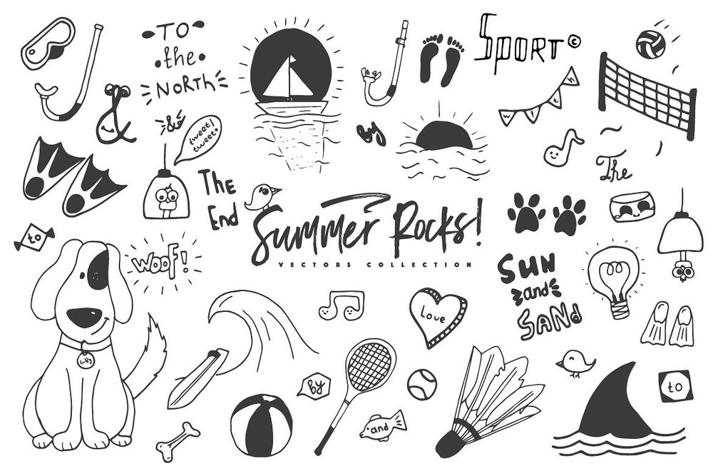 Summer Rocks! Vectors Collection