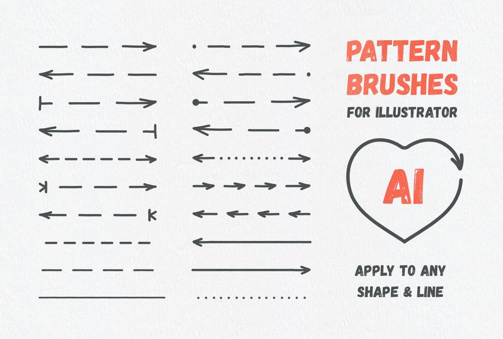 Arrow Head: Pattern Brushes & Vector Arrows
