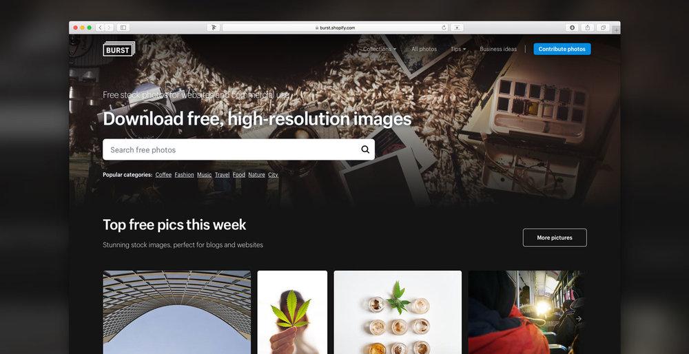 Burst homepage