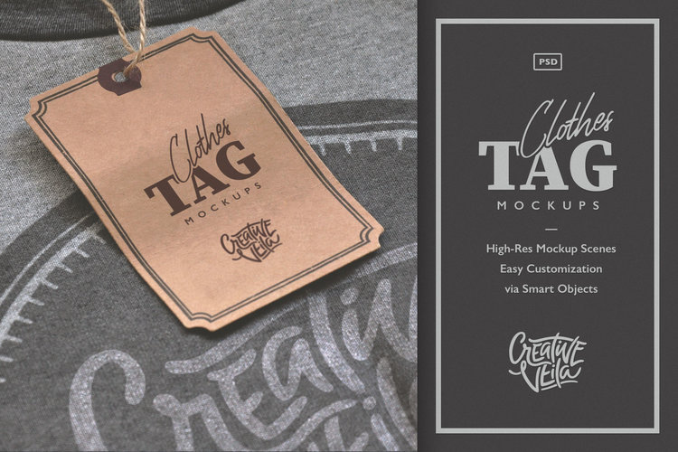 Clothes Tag PSD Mockups