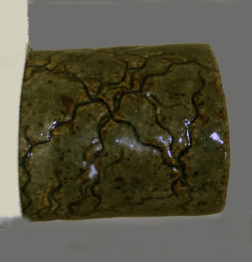 ceramic finial by Reiko Schwob