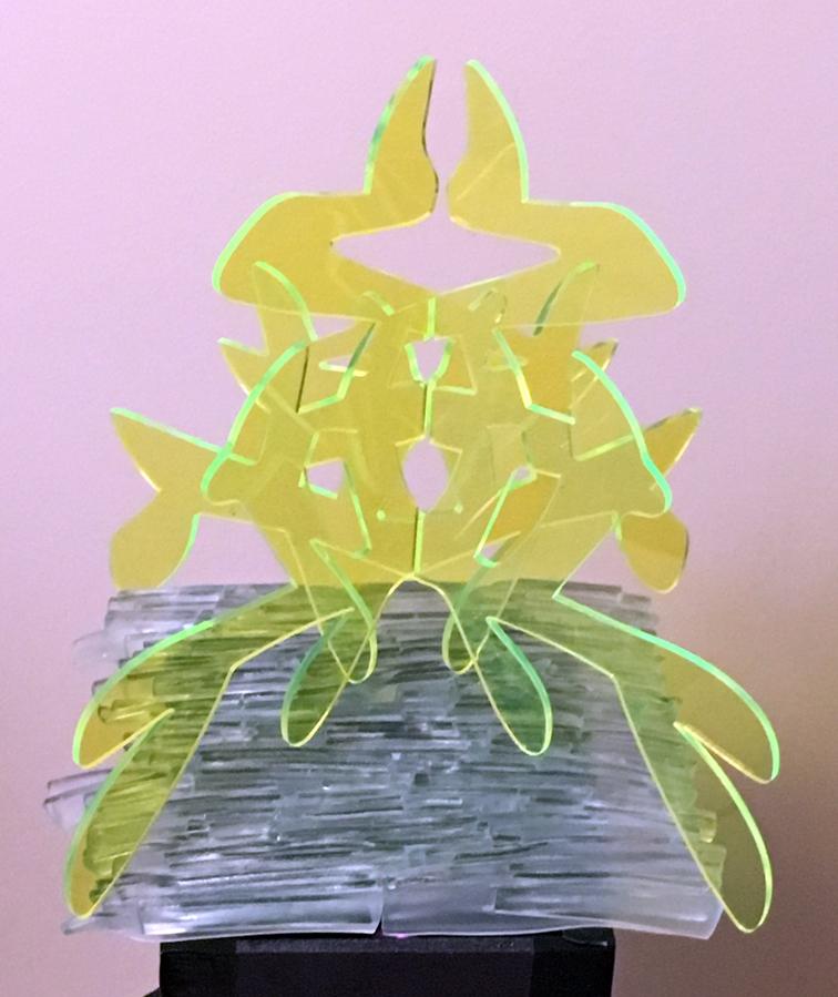 fluorescent-edge acrylic