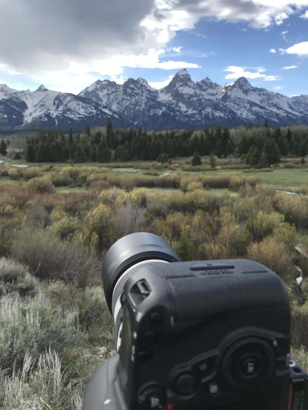 Here's a #BTS of my camera and the Tetons