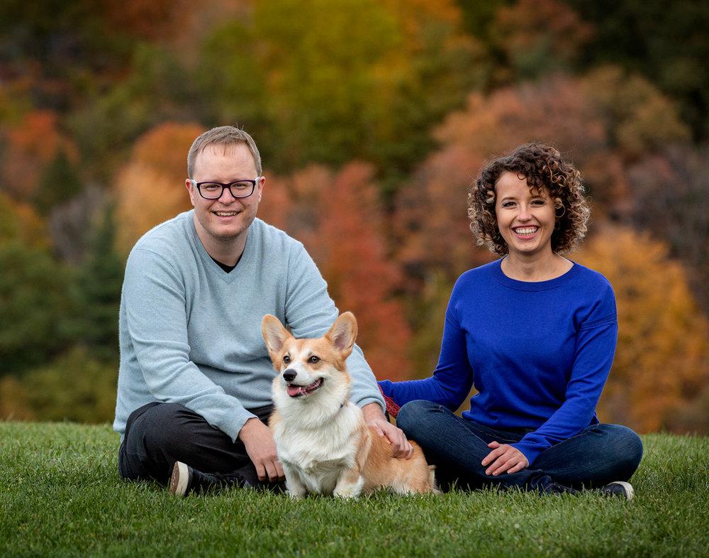 Couple-and-dog-Fall-pet-photo-shoot