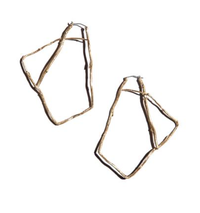 "K/ller ""Willow"" Brass Hoops https://www.kllercollection.com/collections/earrings"