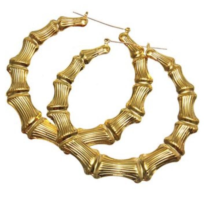 Bamboo Hoop Earring