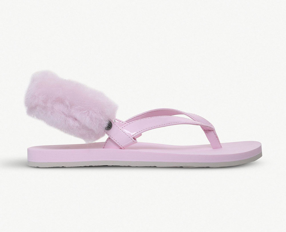 Uggs Australia LaaLaa flip flop with interchangeable fur heel strap