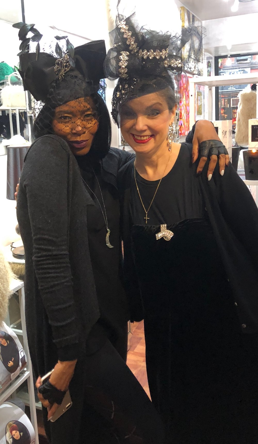 Tamiko and Abigail Aldridge at Rococo Design in NYC