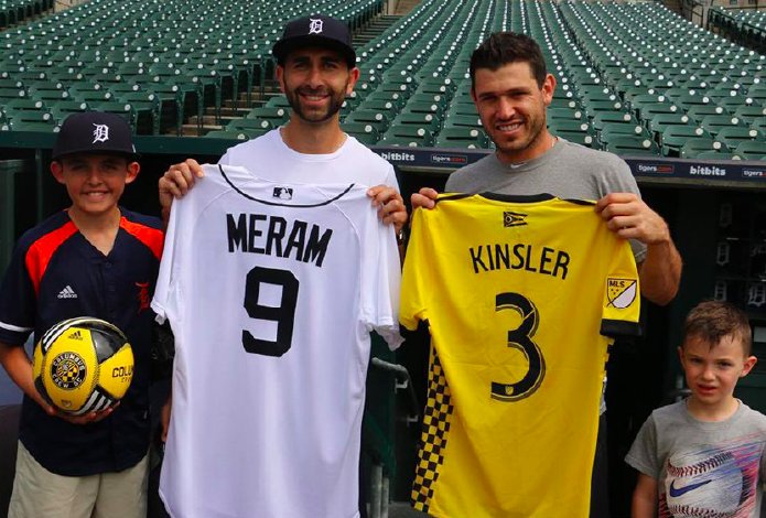 Columbus Crew SC star Justin Meram has 'surreal moment' at Comerica Park