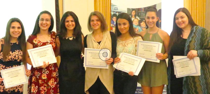 Left to Right: Nicole Hermes, Salvin Salem, Diana George, Ashley Antoon, Joleyana Y. Hermiz, Katelin Yaldo, Isabella Antoon.