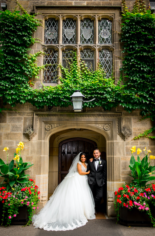 Fadi & Karla were such a fun couple.  There was so much laughter at the wedding and when we took photos, you could feel the joy. The couple decided to have their images taken at the Edsel & Eleanor Ford House in Grosse Pointe Shores. These photo captures a simple look against architectural details of the historic venue.