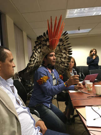 Indigenous and traditional community leaders attend California AB 32 discussions.