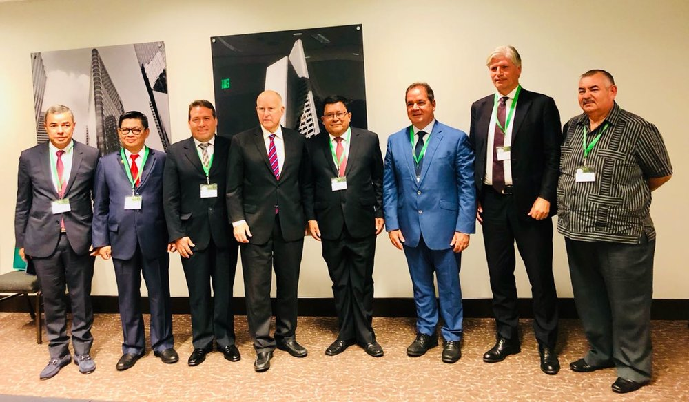 Governors' Climate and Forests Task Force members from California, Acre, Brazil; San Martin and Ucayali, Peru; North Kalimantan, Indonesia; Caqueta, Colombia; and Pastaza, Ecuador, as well as Norway's Minister of the Environment .