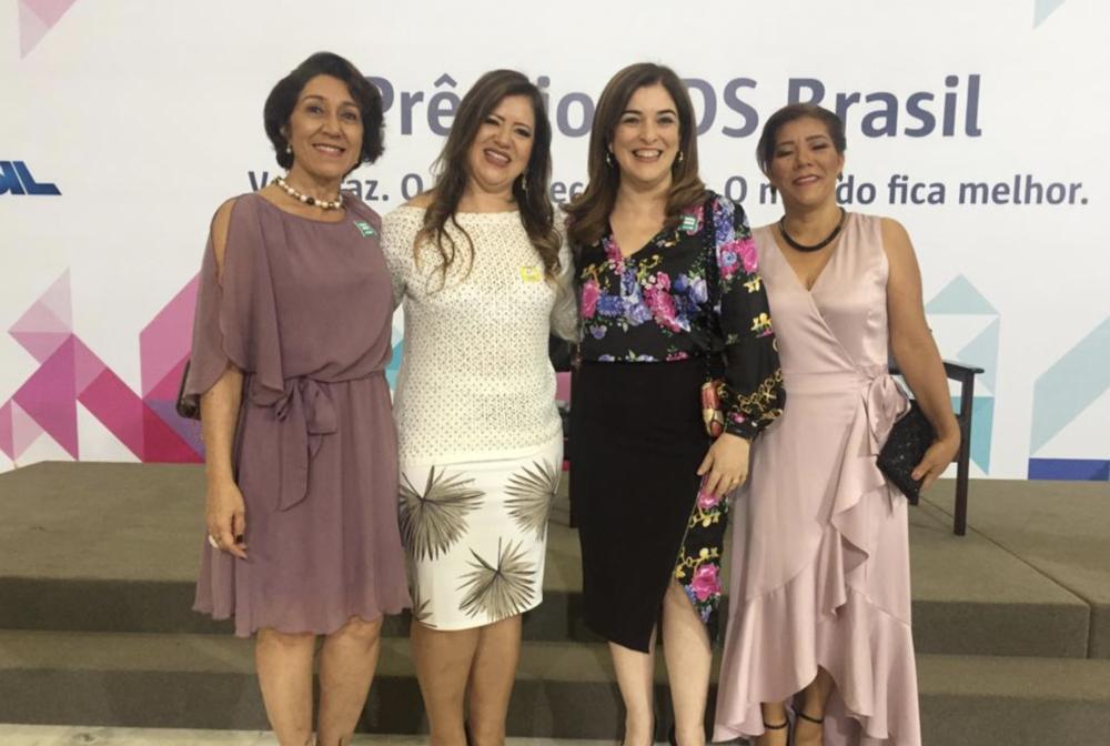 Acre foi campeão na categoria Governo. Da esquerda para a direita, Magaly Medeiros, Adelaide de Fátima (Fieac), Nazareth Araújo e Maria Antônia Zabala (Sema) – Foto: Cedida