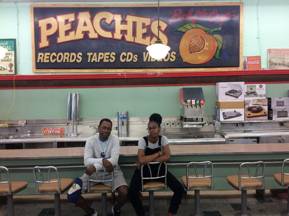 My boy Clinton & I at Peaches Records in Uptown New Orleans.