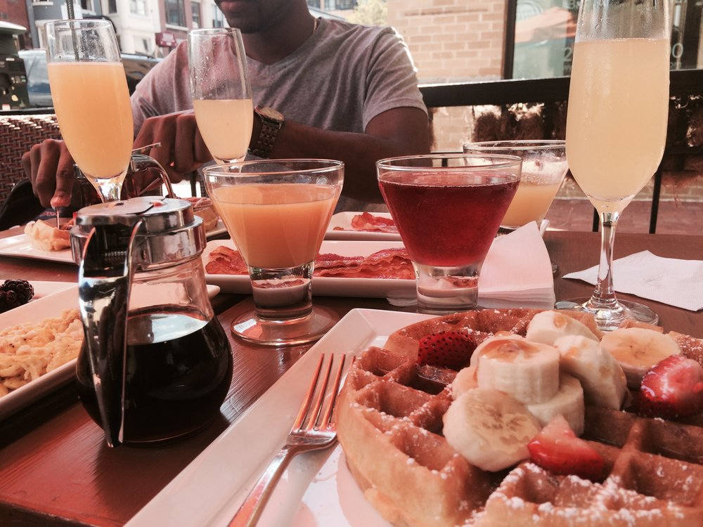 Brunch at  Bin 1301  on U Street in 2015.