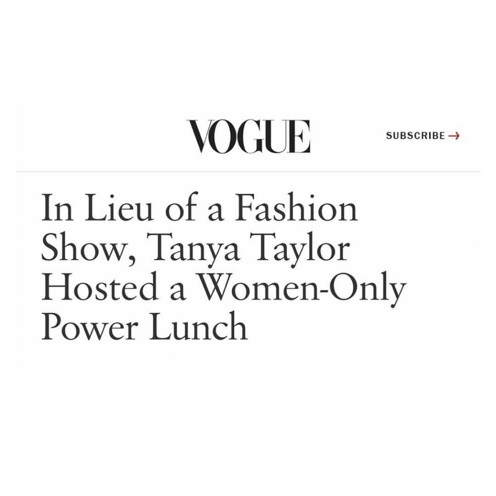 US Vogue - Electric Woman represented at Tanya Taylor NYFW lunch