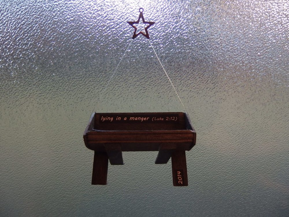 "2014 ""Lying in a Manger"" ornament"