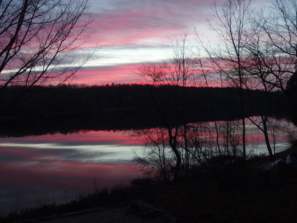 Hanley Lake sunrise - back to even