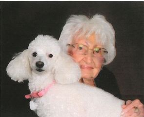 Evelyn VanTassel and her poodle Sara Lee