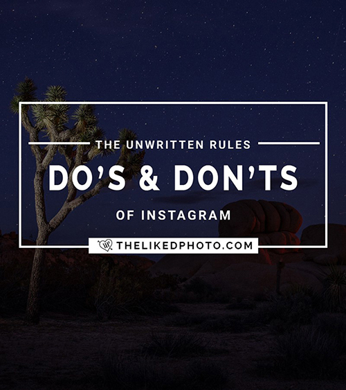 Do's and Don'ts of Instagram. Includes a FREE Instagram Checklist