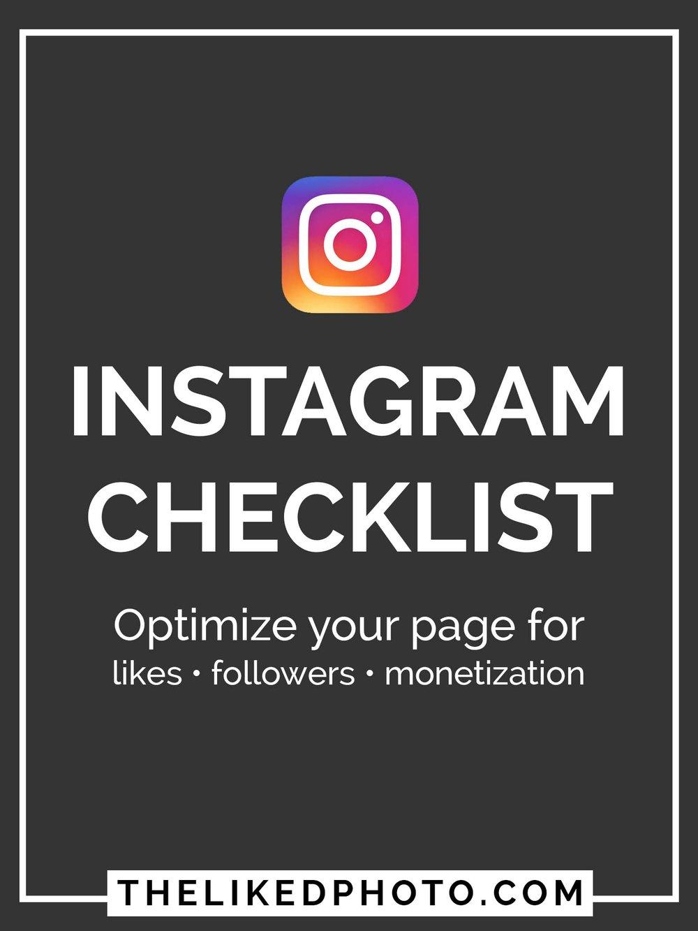 Instagramchecklist