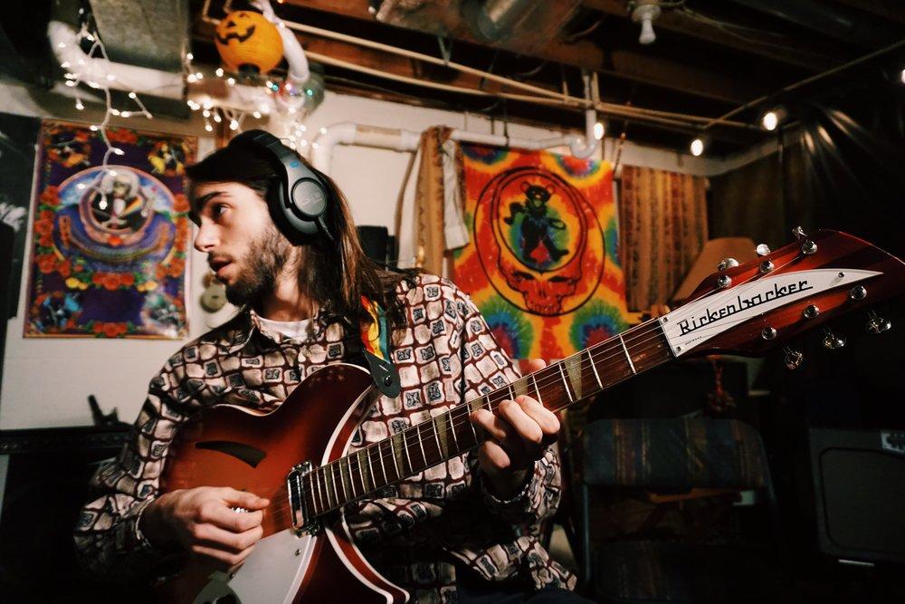 Conrad Jammin in the basement.