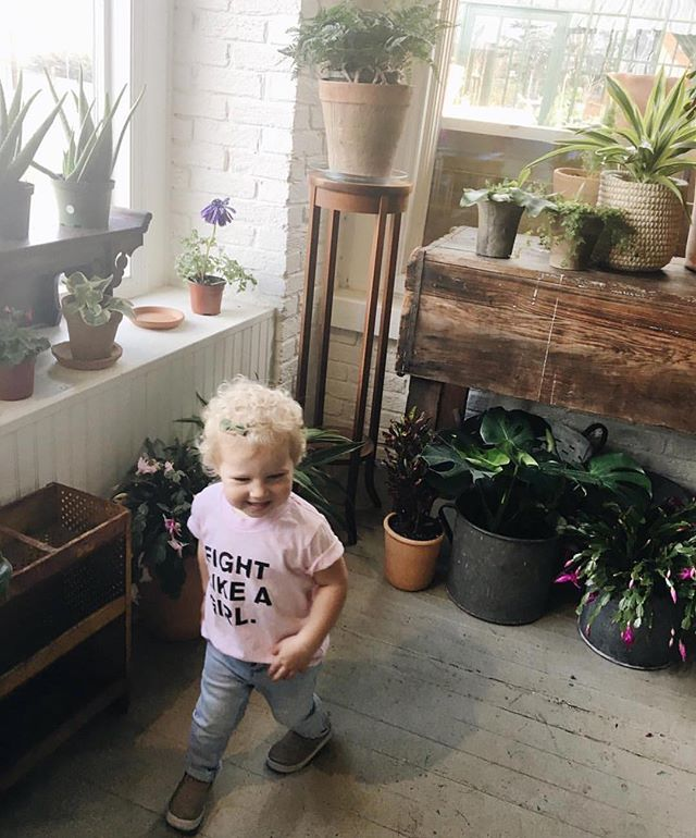 A day brightener: Zara in our Fight Like a Girl shirt 😍 #onwardtogether #eleven5shop