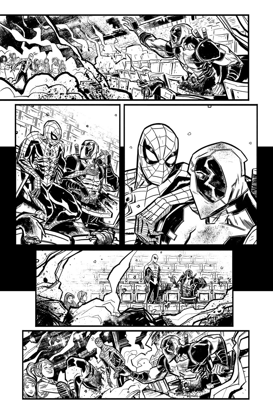 Spider-Man/Deadpool Monsters Unleashed #1  Writer:  Joshua Corin  Artist:  Tigh Walker   MARVEL,  2017