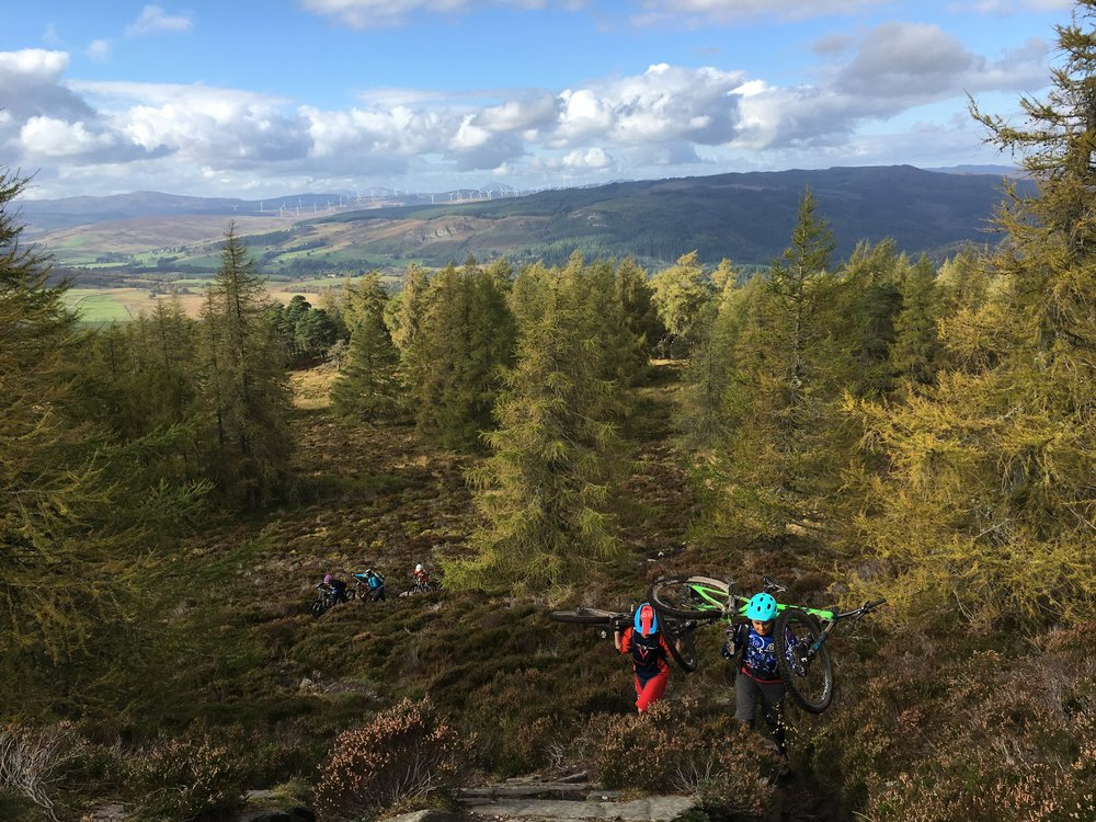 Hiking up the hill in Dunkeld. A trip with the Valley Girls. Riding with this gang has been awesome and that day I followed some good mates down some steep. gnarly trails and took a real step forward. I felt like myself again.