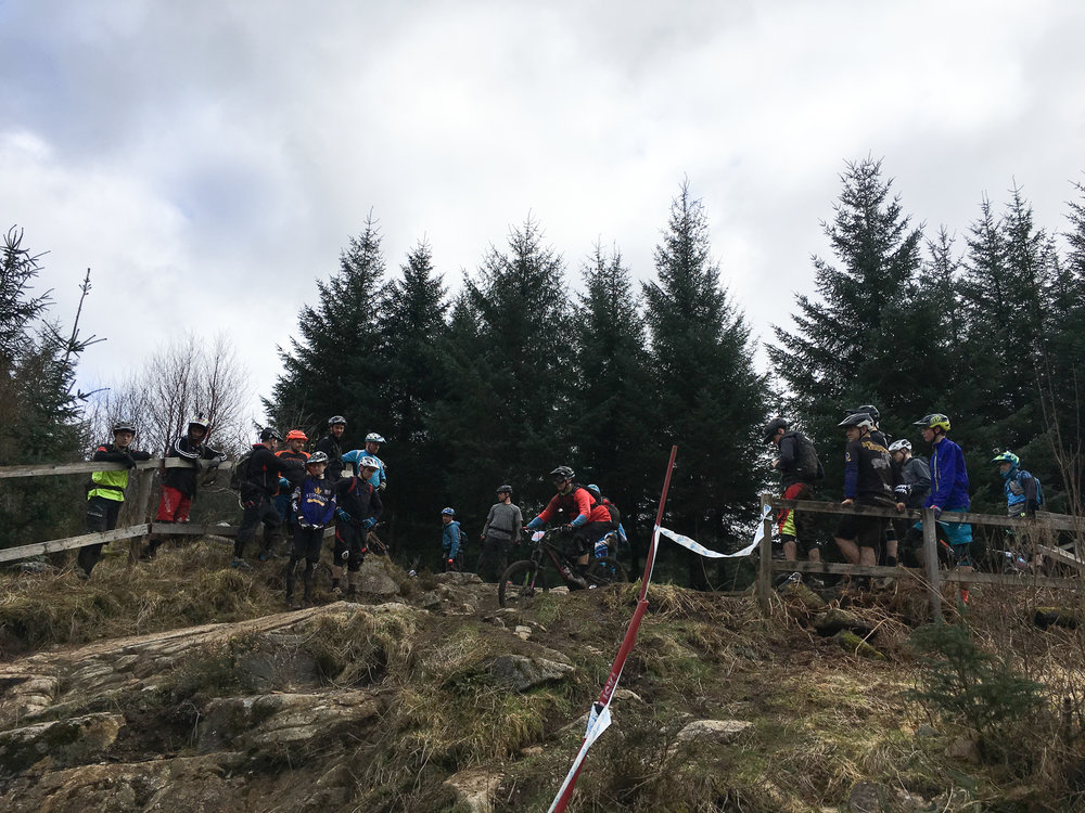 There was a lot of chat and nodding of heads going on as riders choose different lines through the rock garden.