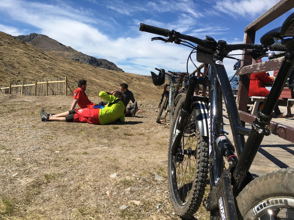 In between high speed craziness over open rocky terrain there's time to chill at this event!
