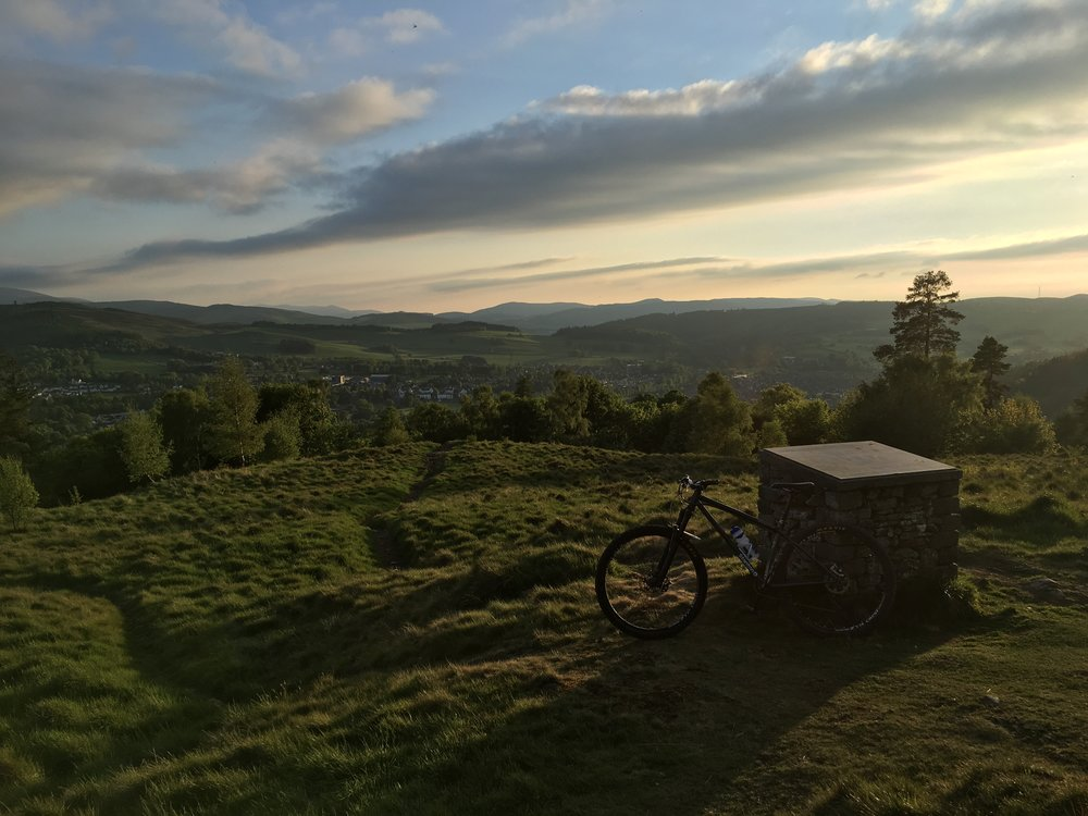 Out above Peebles getting used to the HT a few days before GT7