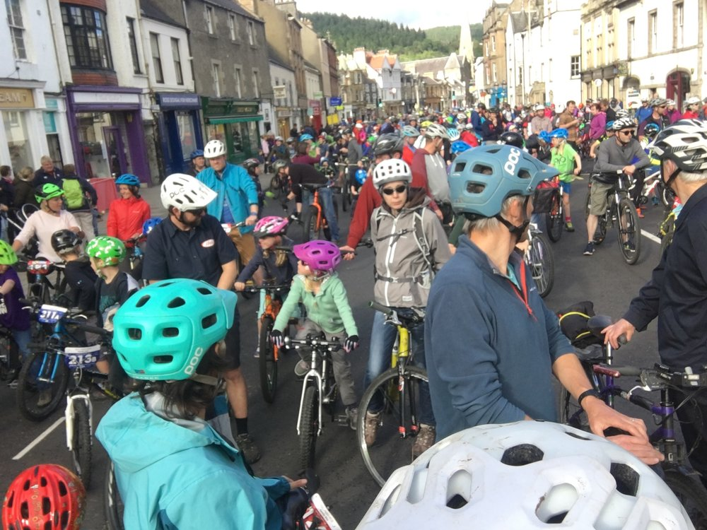 Peebles high street filling up with families