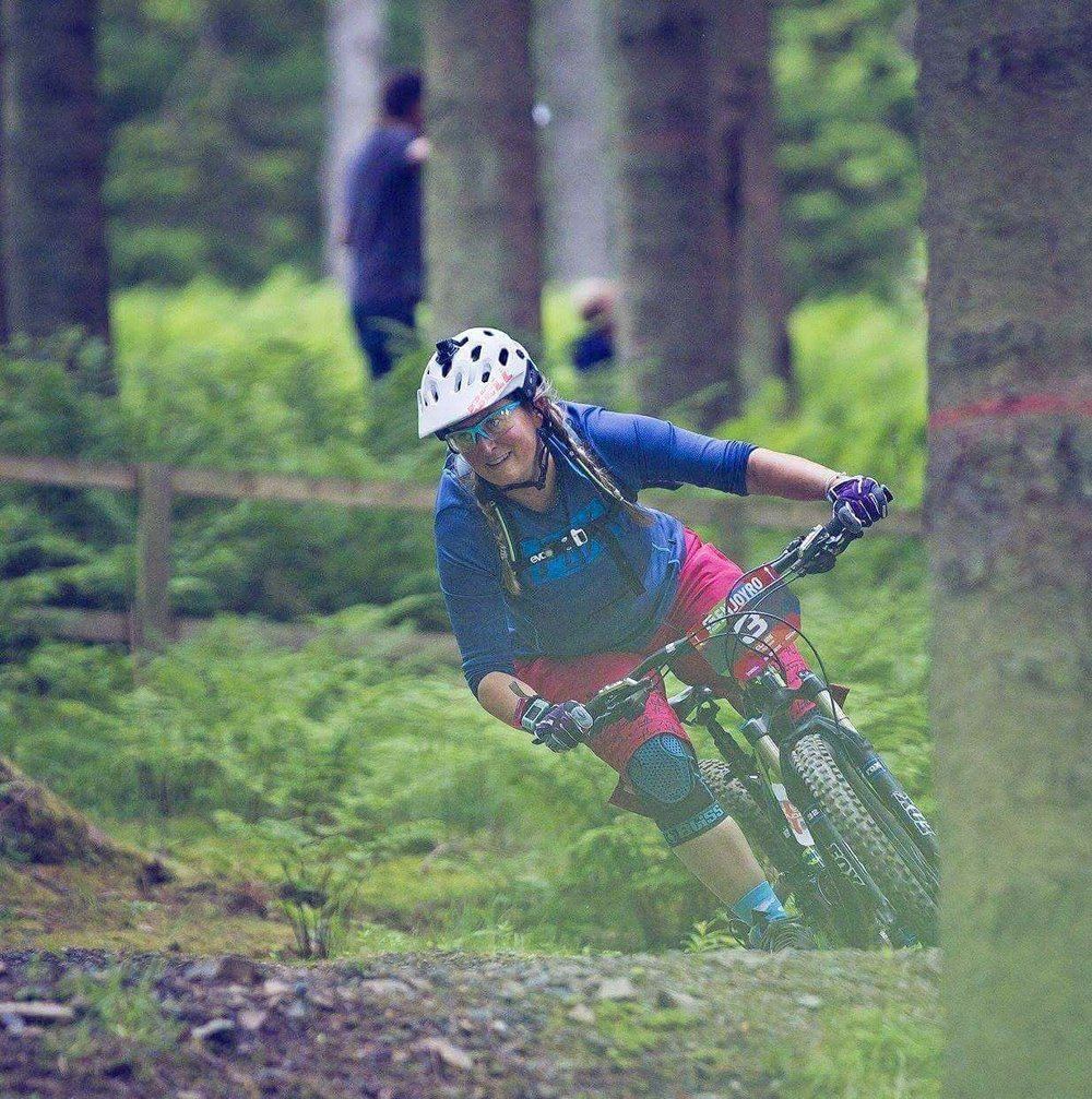 Claire Glasgow-Aitchison at her first Enduro the Tweedlove Enjoyro which brought in a big women's field. Despite nerves she had a great time and is entered for the Maidenduro coming up soon!